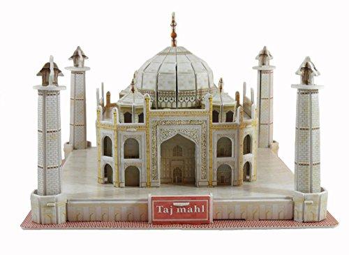 Creative 3D Puzzle Paper Model Taj Mahal DIY Fun & Educational Toys World Great Architecture Series, 55 Pcs.