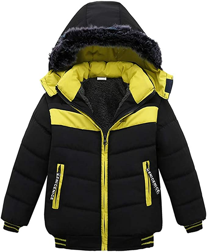 Goodtrade81 Baby Jacket Boy Girl Clothes Thick Coat Long Sleeve Tops Winter Outfit