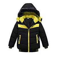 Children Boys Winter Hooded Coat Vovotrade Kids Long Sleeve Padded Up Jacket Thick Warm Coats Zipper Hoodie Outerwear Age for 2-4 Years Old