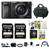 Sony Alpha a6000 Premium Kit with 16-50mm Lens Bundled w/ Software Suite