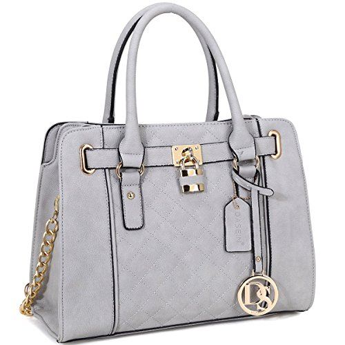 dasein-medium-satchel-with-shoulder-strap-grey