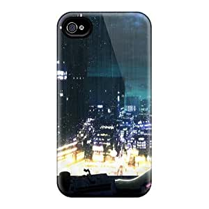 New Premium NewPacker Hatsune Miku Aqua Hair Anime Girls Rain On Glass Skin Case Cover Excellent Fitted For Iphone 4/4s
