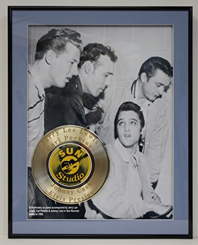 Million Dollar Quartet Laser Etched With the names Carl Perkins, Elvis Presley, Jerry Lee Lewis and Johnny Cash Limited Edition Gold Record - Outlet Lee