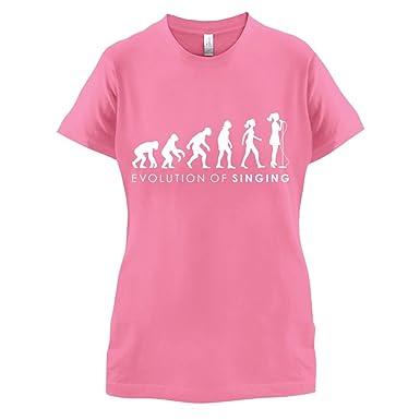 Evolution of Woman - Singen - Damen T-Shirt - Azalee - S