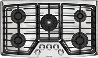 Electrolux : EW36GC55GS 36 Gas Cooktop with 5 Sealed Burners - Stainless Steel