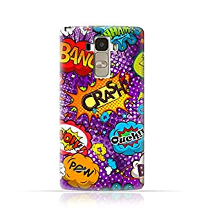 LG G4 Stylus TPU Silicone Case withComic Speech Bubbles Seamless Pattern Design- Multicolor