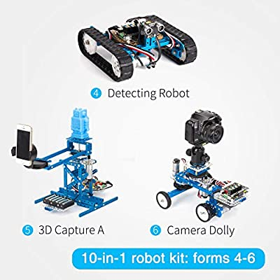 Makeblock DIY Ultimate Robot Kit - Premium Quality - 10-in-1 Robot - STEM Education - Arduino - Scratch 2.0 - Programmable Robot Kit for Kids to Learn Coding, Robotics and Electronics: Toys & Games