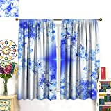 Relacee Blackout Thermal Curtain Panel Abstract Art Star Backdrop (Wallpaper) Room Darkening W55