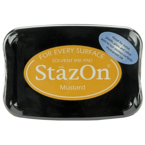 Tsukineko Full-Size StazOn Multi-Surface Inkpad, Mustard