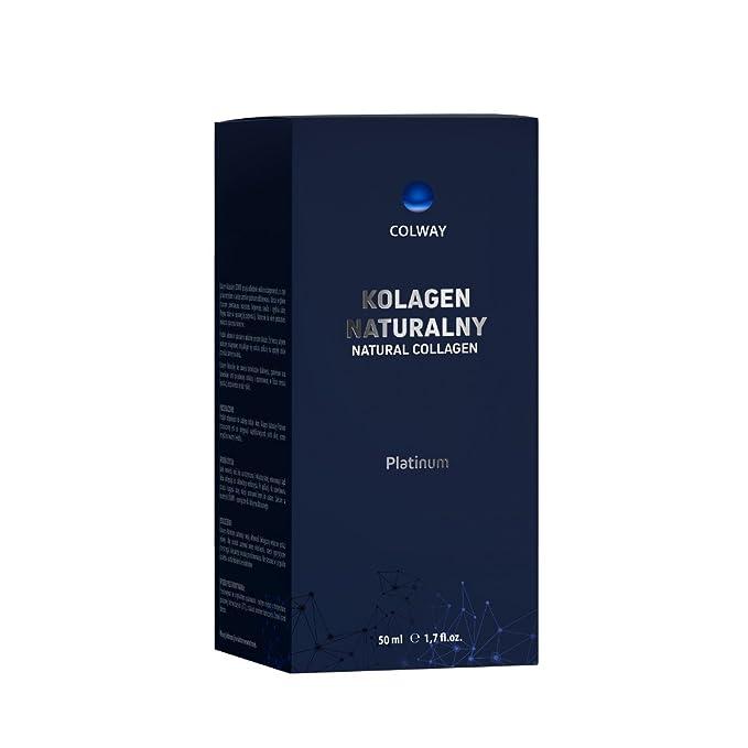 Colway PLATINUM COLÁGENO NATURAL Cosmético orgánico - Piel profunda reconstrucción - Cara cuello y decolette tratamiento rejuvenecedor sensacional (50ml): ...