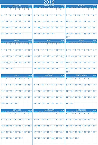 Clearance Sales! 2019 Calendar - Yearly Full Wall Calendar 2019, Perfect for Organizing & Planning, January 2019 - December 2019, Premium Thick & Smooth Paper, Vertical, X Large, 23