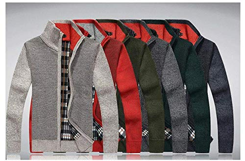 calda Top Rot manica Cardigan lungo Nero Fit maglione Uomini Colletto Inverno maglione Cappotto Vintage Autunno Slim Cardigan wOqSHI