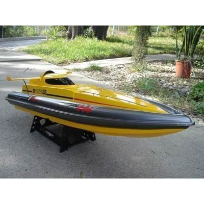 """32"""" Yellow High Performance Majesty 800S Radio Remote Control Electric EP RC Racing Speed Boat RC RTR: Toys & Games"""