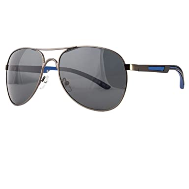 4aa4cb7fef53 Image Unavailable. Image not available for. Color  Classic Aviator Retro  Mens Fashion Metal Vintage Designer Polarized Sunglasses