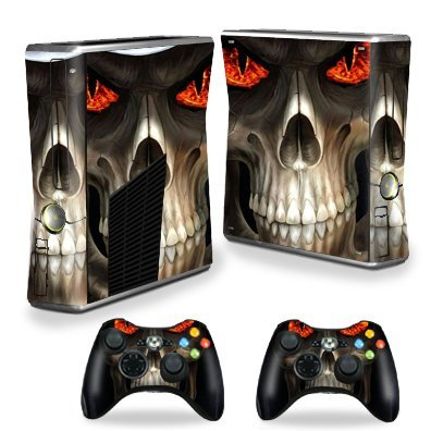 MightySkins Skin Compatible with X-Box 360 Xbox 360 S Console - Evil Reaper | Protective, Durable, and Unique Vinyl Decal wrap Cover | Easy to Apply, Remove, and Change Styles | Made in The USA