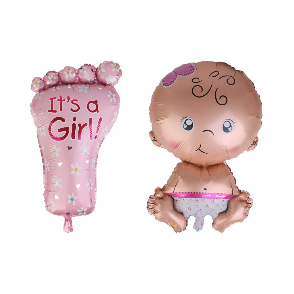 It/'s A Girl 72x45cm Helium Foot Balloon Babay Shower Christening Party Decor