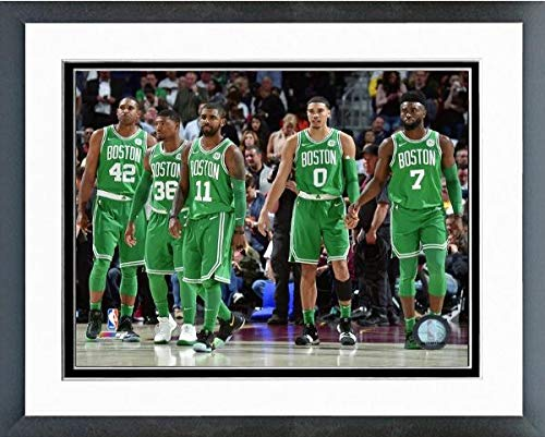 Boston Celtics 2017-2018 NBA Starting Five Photo (Size: 12.5