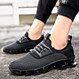 Most Gifted! Teresamoon Casual Men Flat Lace-Up Sports Mesh Shoe Wear Resistant Non-Slip Light Sneakers
