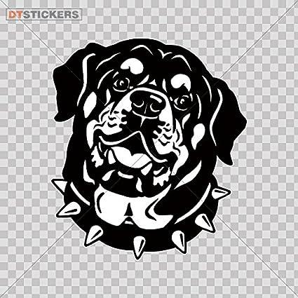 Amazon Com Vinyl Stickers Decal Rottweiler Head For Helmet