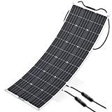 ALLPOWERS 100W 18V 12V Flexible Solar Panel Charger Monocrystalline Lightweight Solar Module Kit with MC4 Connector Charging for RV Boat Cabin Tent Car - Updated