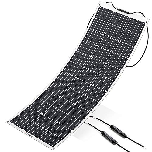 ALLPOWERS 100W 18V 12V Flexible Solar Panel Charger Monocrystalline Lightweight Solar Module Kit with MC4 Connector Charging for RV Boat Cabin Tent Car – Updated