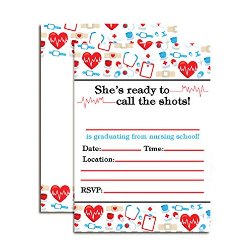 Nursing School Graduation Party Invitations, 20 5