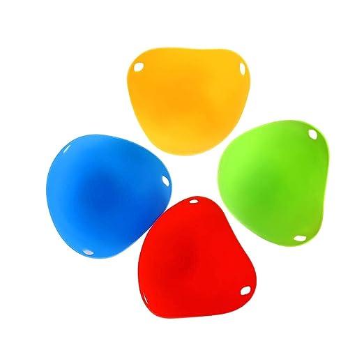 Zensinc 4 Piezas Molde Huevo Silicona para Huevos Escalfados ...