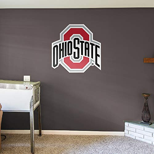 (Fathead NCAA Ohio State Buckeyes Ohio State Buckeyes: Logo - Giant Officially Licensed Removable Wall Decal)