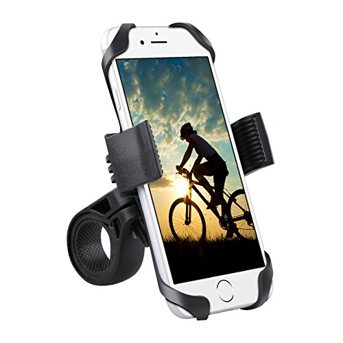 Bike Mount,iForaa Universal Cell Phone Bicycle Handlebar & Motorcycle Holder Cradle for iPhone 6 6(+) 6S Plus 5S 5C 4S SE, Samsung Galaxy S6 S5 S4 S3 Note 2,3,4,Nexus,HTC,LG,BlackBerry,GPS Device