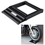 Wheel Roller Stand, 400KG Aluminum Motorcycle Motorbike Tyre Wheel Spinner Chain Cleaning Cleaner Roller Stand Black
