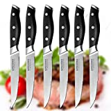 Steak Knives,Premium Steak Knife Set of 6 Stainless Steel- Professional Quality For Multipurpose Use Stainless Steel Serrated 5-inch Blade – Safe Streak Knifes.(DJ027) … For Sale