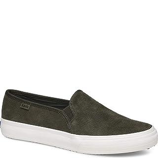 Keds Women's Double Decker Suede Sneaker, Forest Green, 8 M US