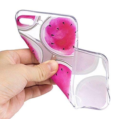 iPhone 8 Plus Hülle Rosa Wassermelone Premium Handy Tasche Schutz Transparent Schale Für Apple iPhone 8 Plus + Zwei Geschenk