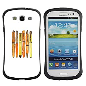 "Hypernova Slim Fit Dual Barniz Protector Caso Case Funda Para SAMSUNG Galaxy S3 III / i9300 / i747 [Fountain caligrafía blanca minimalista""]"