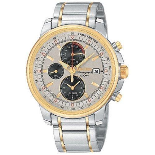 Seiko Chronograph Two Tone Bracelet Mens Watch SNAA62