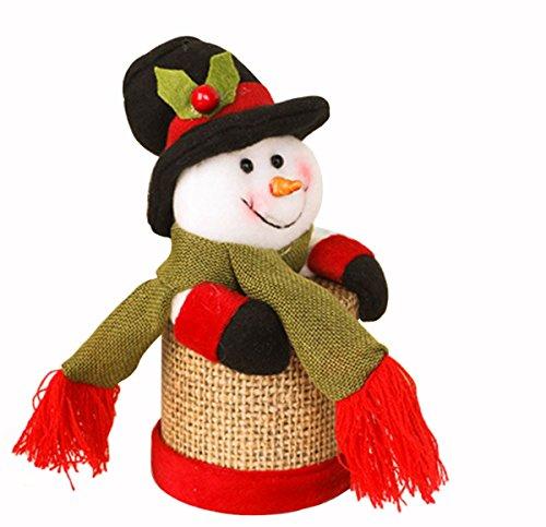 Decoraciones de Navidad Lino Caja de Regalo Grande de los Niños Papá Noel Ciervo Monigote de Nieve Caja de Dulces Regalo de...