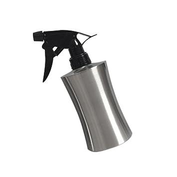 Edelstahl Sprüh-Flasche Kosmetex Klarglas mit Sprühkopf Zerstäuber leer,