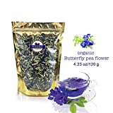buy Premium Thai Herb Organic Dried Butterfly Pea Flowers Tea, (3.55 oz.)Use to Cook, For Thai Food, Beverage, Cake or Cookie now, new 2018-2017 bestseller, review and Photo, best price $13.99