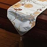 Table flags modern simple mahogany tea table tablecloth,European american style luxurious bed end towel-C 300x35cm(118x14inch)