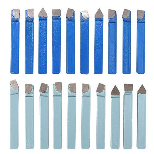 20pcs 1/4 Inch Carbide Tip Lathe Metal Cutter Bit Cutting Turning - Cutting Tool Turning Tool-20 x Carbide Lathe Tool- 20 x Carbide Lathe Tool