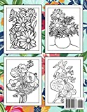 Coloring Book Flowers For Adults: The Flowers