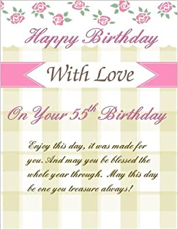 On Your 55th Birthday Greetings Weekly Planner Party Decorations55th Cards In Al55th Card Of55th For Her
