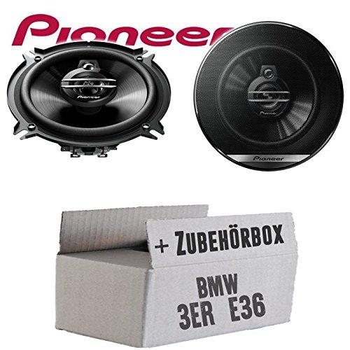 Lautsprecher Boxen Pioneer TS-G1330F Einbauset 13cm 3-Wege 130mm Triaxe 250W Auto Einbausatz BMW 3er E36 Front