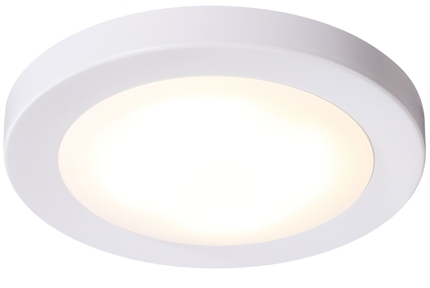 "Cloudy Bay LED Flush Mount Ceiling Light,7.5"",12W 840lm(100W Incandescent Equivalent),Dimmable,3000K Warm White,ETL,Wet Location,White Finish"