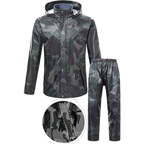 RFJJAL Hombres/Mujeres Impermeable Conjunto Chaqueta ...