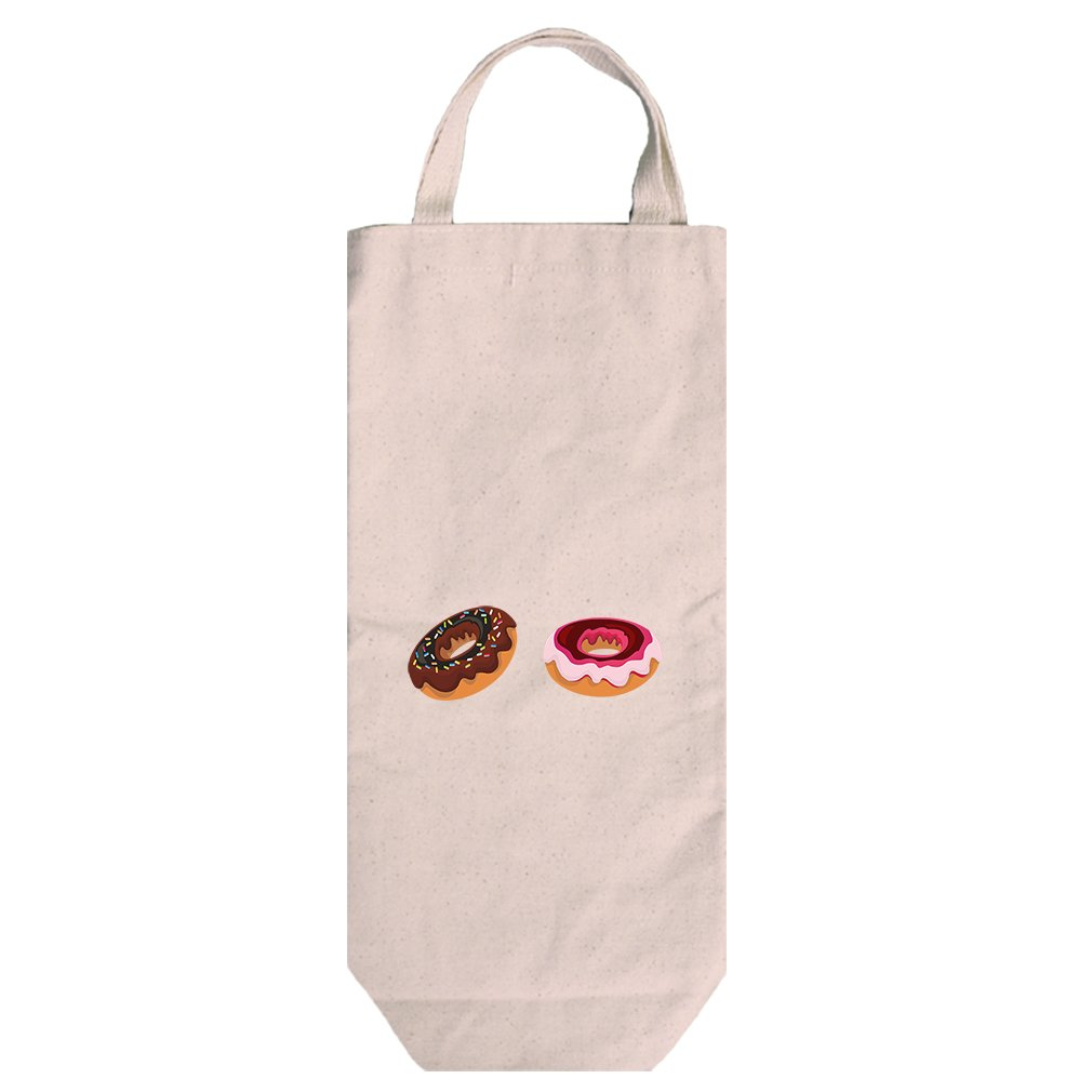 Canvas Wine Bag Tote With Handles Donuts Food Image By Style In Print