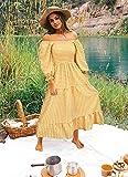 UIMLK Women's Boho Flowy Cottagecore Puff Sleeve