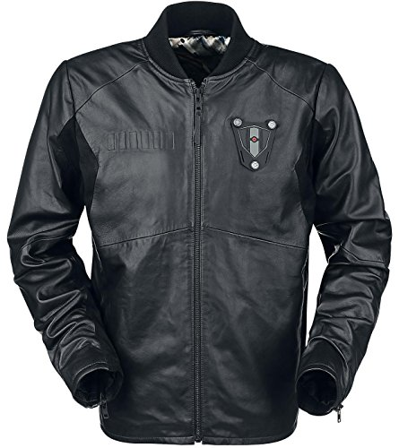 Musterbrand Star Wars Veste en cuir Homme Tie Pilot Limited Edition High Quality Noir XL