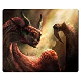26x21cm 10x8inch game Mouse Mat cloth rubber easy movement Elegant Dragon's Dogma