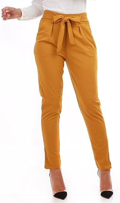 pantalon femme noeud